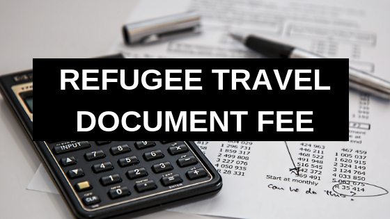 Refugee Travel Document Fee
