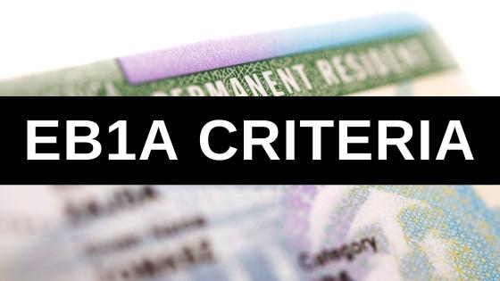 EB1A Criteria