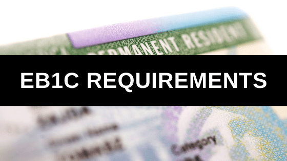 EB1C Requirements